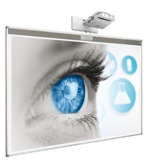 """Beschrijfbaar projectiebord (softline profiel) voor interactieve touch beamer - 150 x 240 cm (100"""")"""