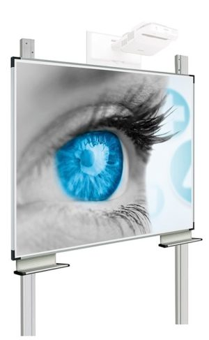 Enkelvlaks projectiebord Extraflat voor interactieve beamers