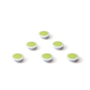 Glasbordmagneten groen