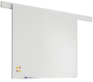 PartnerLine Rail whiteboard emailstaal wit -  60x90 cm