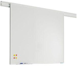 PartnerLine Rail whiteboard emailstaal wit -  90x180 cm