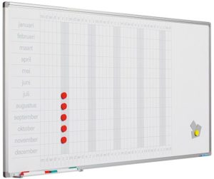 Planbord Softline profiel 8mm Jaar NL
