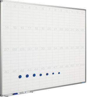 Planbord Softline profiel 8mm Jaaroverzicht - 90x120 cm