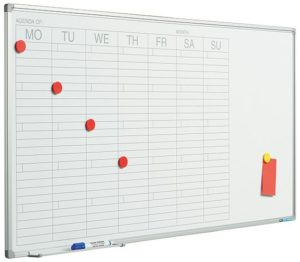 Planbord Softline profiel 8mm Week DU - 60x120 cm