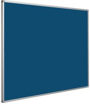 Prikbord Softline profiel 16mm bulletin Blauw - 120x300 cm