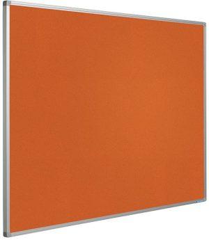 Prikbord Softline profiel 16mm bulletin Oranje - 120x240 cm