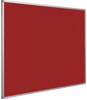 Prikbord Softline profiel 16mm bulletin Rood - 90x180 cm