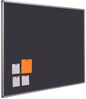 Prikbord Softline profiel 16mm bulletin Zwart - 120x240 cm