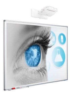 Projectiebord Softline profiel 8mm email matwit 2:1 - 120x240 cm