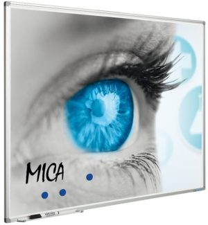 Projectiebord Softline profiel 8mm email wit MICA projectie (4:3) - 150x200 cm