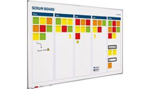 Scrum Board softline profiel - 120x200 cm