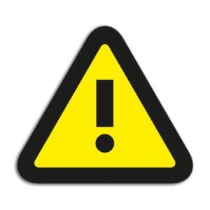 Symbool Attention geel/zwart