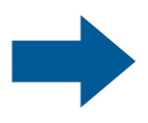 Symbool Pijl blauw