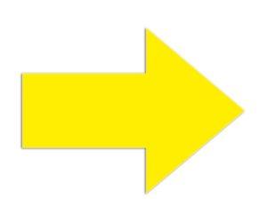 Symbool Pijl geel