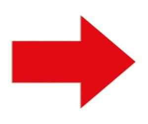 Symbool Pijl rood